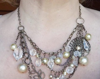 Pearl Abstract Necklace #1132