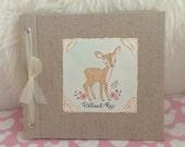 Baby Book - Baby Memory Book - Girl, Deer, Baby Album - Deer Baby Memory Book - Hugs and Kisses XO Baby Memory Book