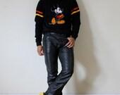 1970s Mens Black Leather Pants size 32