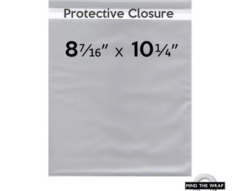100 -  8-7/16 x 10-1/4 inch Clear Bags for 8x10 Prints, Photographs, Art - Protective Closure - 1.6 mil Polypropylene - Archival