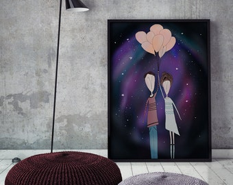 PRINT | Journey To NEBULA: Illustration Print.
