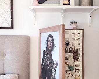Wall Mounted Jewelry Organizer Photo Frame