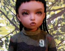 Braided Bjd wig size 6-7, girls or boys, yosd, Iplehouse B.I.D, Littlefee, 3 lengths, several colors available