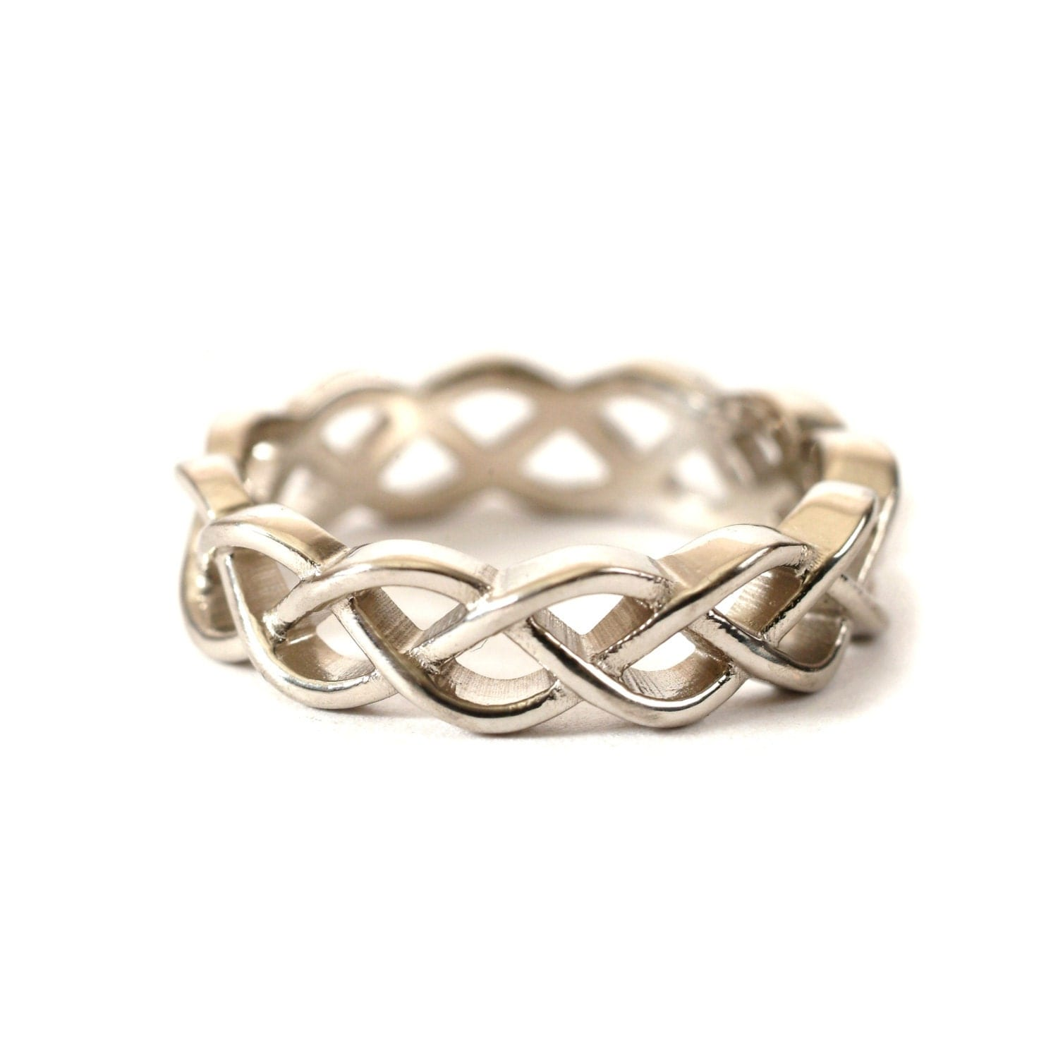 sterling silver celtic knot ring unique wedding band wedding