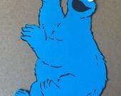 1- Cookie Monster Waving Cricut DIe Cuts