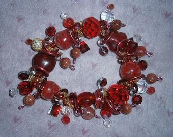 Red Carpet bracelet/ Red beads/Bracelet/beadiebracelet