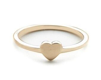 TINY HEART ring // solid 14k // tiny heart ring // solid yellow gold heart ring // solid 14k rose gold heart ring // tiny heart ring // love