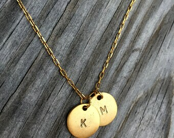 Multi Initial Necklace - Personalized - Custom Monogram Jewelry - Mothers Necklace - Children's Initials - Gift for Her - Bridesmaid Gift