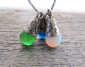 Green Quartz Necklace, Boho Necklace, Tibetan Necklace, Chakra Necklace, Buddhist Necklace, Necklaces For Women, Pendant Necklace