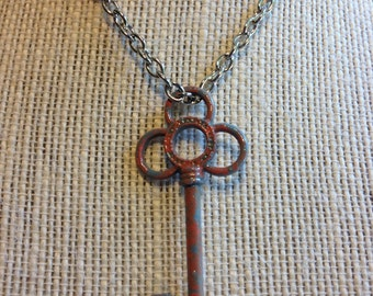 "24"" Grey&Pink Key Necklace"