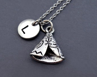 Tipi charm Necklace, teepee necklace, tepee, Native american indian, Conical tent, American Indian tent, personalized, monogram