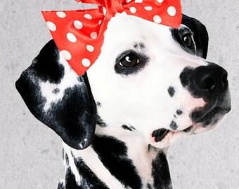 Dalmation Girl Art Print, Giclee print, Nursery Wall Art, Dalmatian Poster, Dog Poster, Kids Bedroom Decor Art Dog Art
