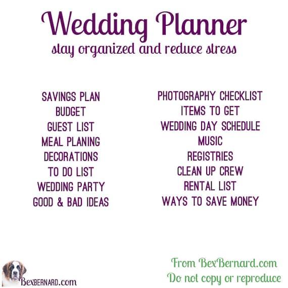 Wedding planner digital excel file to customize and update wedding planner digital excel file to customize and update printable lists editable download checklist planning junglespirit Choice Image