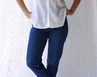 Gauze button down etsy for Gauze button down shirt