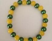 Green Bay Packers Bracelet Team Colors Football Stretch Bracelet