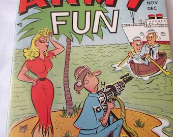 Vintage 1953 Army Fun Joke Book - SIgn of the times with the humor - Estate find!