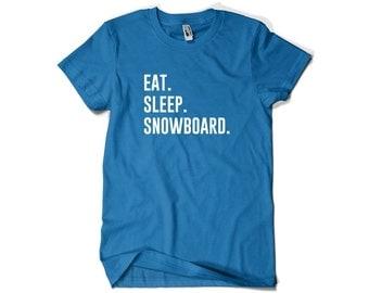 Snowboarder Shirt-Eat Sleep Snowboard T Shirt Snowboarder Gift Men Women