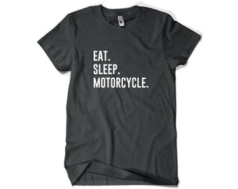 Motorcycle Shirt-Eat Sleep Motorcycle T Shirt Motorcycle Gift Men Women