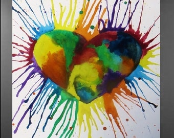 Painted Heart Original Painting