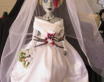 Mutant Zombie Bride- creepy, bloody, Halloween, cinderella