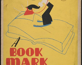 "Vintage WPA Print: ""A Bookmark Would Be Better!"" 8"" x 10"""