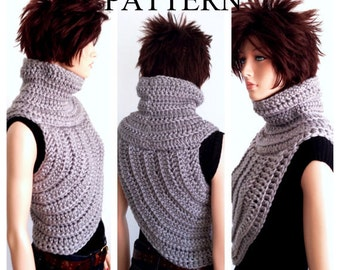 Instant Download PATTERN ONLY. Crochet Katniss Inspired Cowl