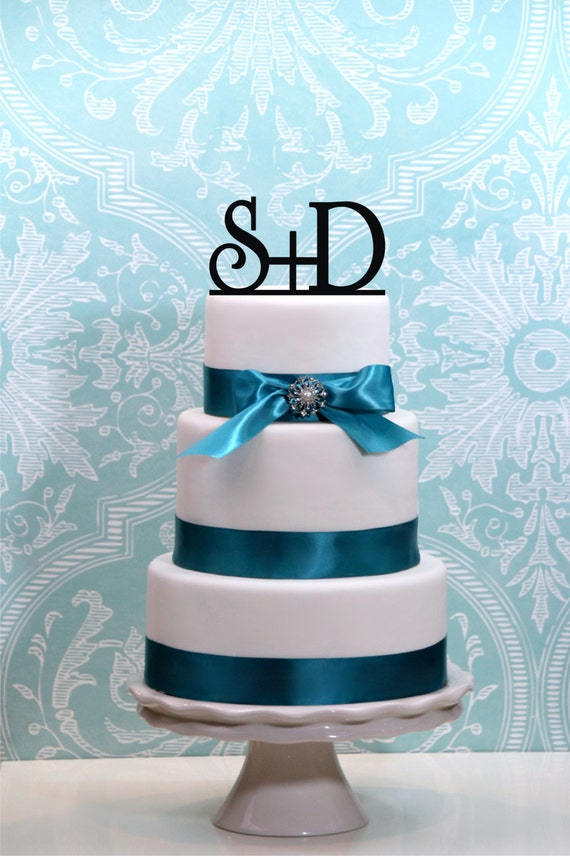 First Initial Monogram Wedding Cake Topper Or Sign Monogram