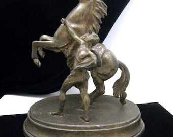 Vintage Spelter Marly Horse Coustou Figurine Replica