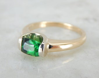Modernist Tsavorite Ring in Yellow Gold Mounting 4238YQ-P