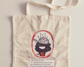 Tote Bag Daphne -  cotton - original illustration