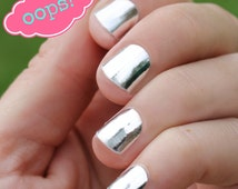 OOPS! Silver Nail Wraps- Slightly Flawed!