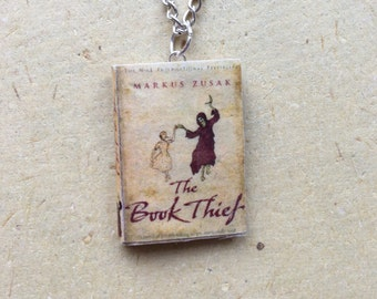 The Book Thief Miniature Book Necklace