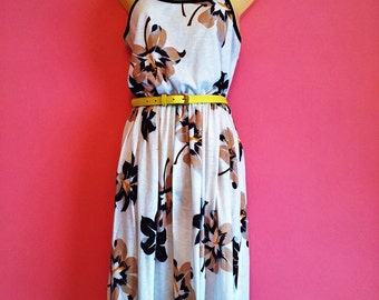Vintage Semi-sheer Tropical Sun Dress Size 9/M