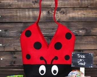 Monogrammed Ladybug Bag // Lady bug bag