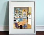 Monica's Apartment - Friends, Friends TV Show Art Print, TV sitcom