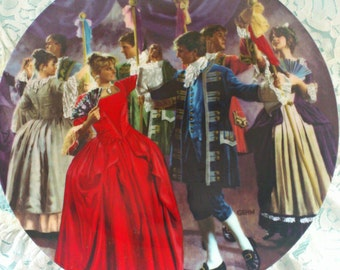 Vintage Fine China Collector Plate The Twelve Dancing Princesses DIE ZERTANZTEN SCHUHE The Brothers Grimm