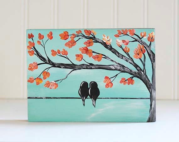 5e anniversaire cadeau romantique cadeau oiseaux sur un fil