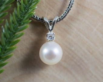Pearl and Topaz Sterling Silver Pendant