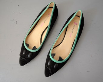 PAUL & JOE Women Ballet Flats, Ballerinas, Black Pumps, Mouse Flats,  size 9, 40 EU