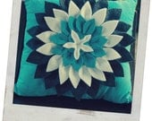 Teal Pillow Woolfelt
