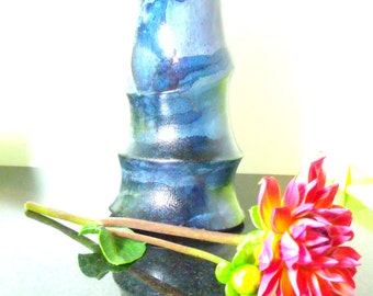 Forest Bamboo - Carved Bamboo Flower Vase