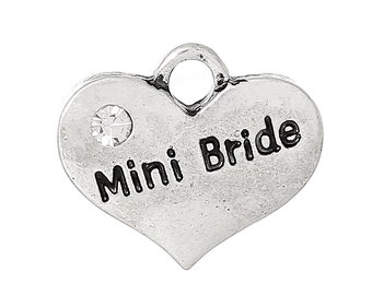 4  Mini Bride Charms - Wedding Charms - Bride Charms -  Jewelry Making or Scrapbooking -MC0737