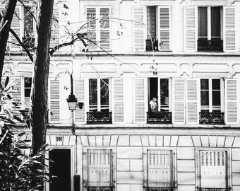 Paris Photography, Paris in Black and White, Montmartre Photograph, Paris Decor, Paris Decor, Home Decor, Paris Print