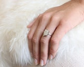 Spoon Ring // Sterling Silver // Cut out // Floral // Dainty // Size 6.5