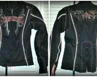 Ladies Harley Davidson Jacket. Mesh and heavy canvas SZ XS