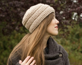 Ridge Chunky Knit Hat