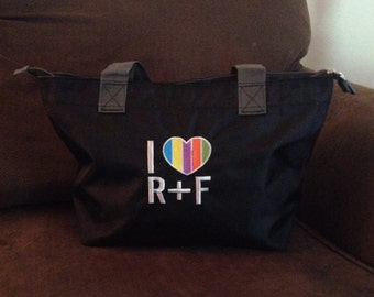 Black Bag with R&F Embroidery