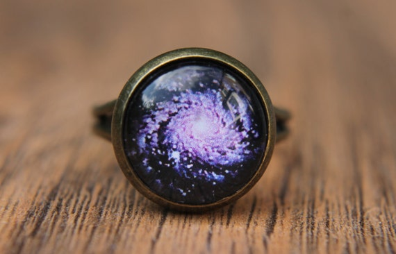 Purple Galaxy Ring Space Universe Solar System Nebula