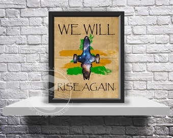 Custom Firefly Malcolm Reynolds Serenity print poster Choose Quote, Size and Frame