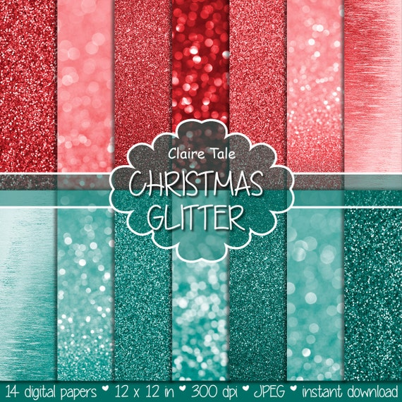 "Christmas glitter paper: ""CHRISTMAS GLITTER""  christmas photo backdrop / christmas bokeh and glitter / sparkles backgrounds in red and green"